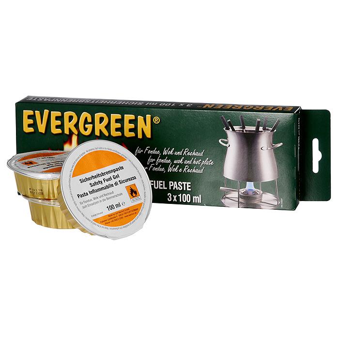 Гель для фондю Evergreen, 3 х 100 мл0059900Гель для фондю Evergreen - очень удобное средство и является источником тепла для приготовления фондю. Также заменяет средство для розжига для мангалов, грилей. Гель безопасен, не токсичен, горит без запаха и гари, безвреден для окружающей среды, он изготовлен на основе чистого этанола. Набор включает в себя три баночки с гелем, выполненные из алюминиевой фольги. Объем одной баночки с гелем: 100 мл Количество баночек: 3 шт Размер упаковки: 27 см х 9 см х 3 см Артикул: 0059900 Производитель: Германия