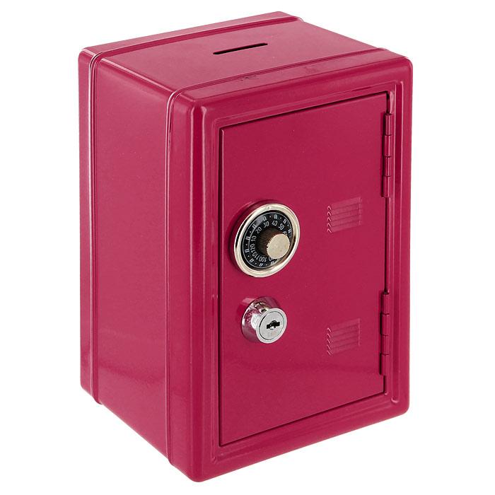 Копилка Эврика Сейф, с ключом, цвет: красный, 12 х 17,5 х 10 см91647Оригинальная копилка Эврика Сейф, выполненная из металла и оснащенная двумя замками (кодовый и обычный), позволит вам скопить приличную сумму, например на поездку, отдых или давно желанную покупку. Внутри есть ящичек для мелочи. Кодовый замок открывается поворотом ручки в любую сторону.