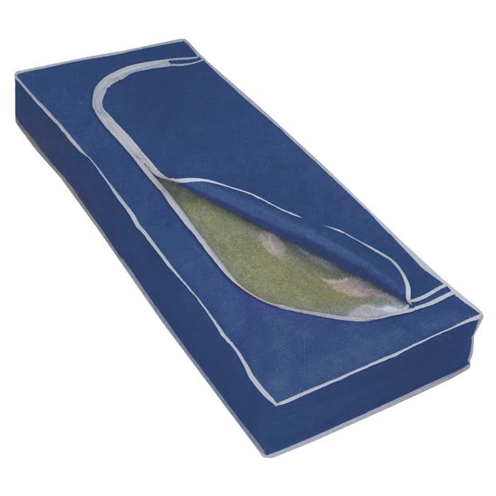 Футляр для хранения Airy, цвет: синий, 120 х 50 х 15 см75.04.52Удобный футляр для хранения Airy прямоугольной формы выполнен из прочного нетканого материала. Он закрывается клапаном на застежку-молнию. Такой футляр отлично защитит ваши вещи от загрязнений, пыли, влаги и поможет надолго сохранить их безупречный вид во время хранения и транспортировки. Характеристики: Материал: нетканый материал (100% полипропилен). Размер: 120 см х 50 см х 15 см. Производитель: Италия. Изготовитель: Китай. Артикул: 75.04.52.