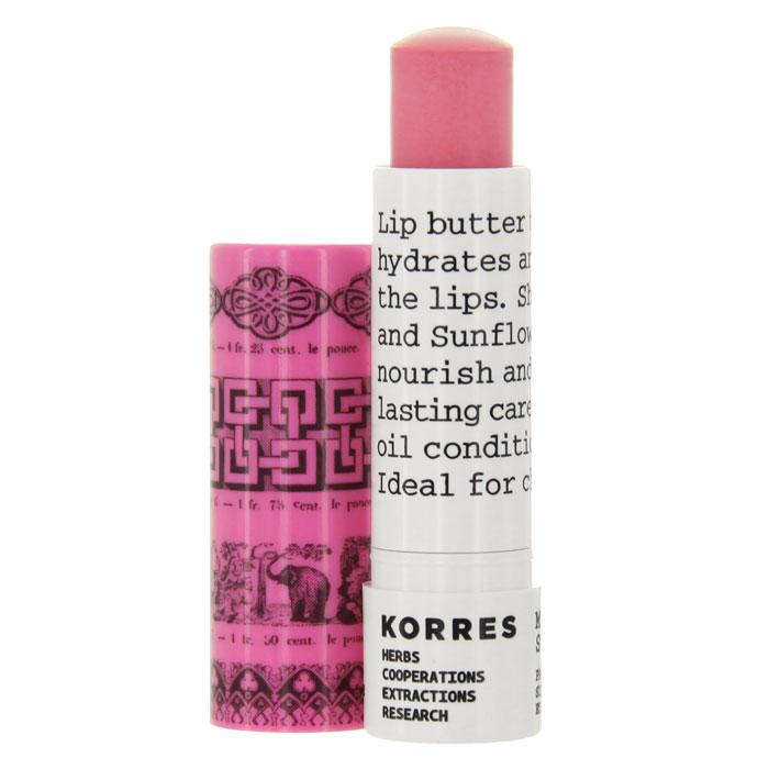 Korres Бальзам-стик для губ, с экстрактом мандарина, SPF15, тон: розовый, 5 мл
