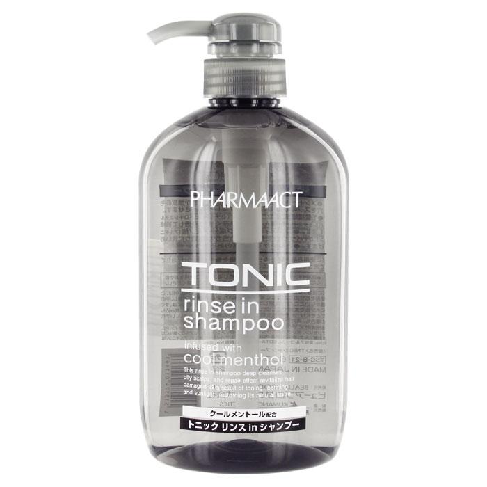 Шампунь для мужчин Pharmaact 2 в 1, тонизирующий, для жирных волос, 600 мл011663Мужской тонизирующий шампунь 2 в 1 Pharmaact содержит ментол и подходит для жирных волос. Глубоко очищает и восстанавливает волосы, поврежденные после тонирования, солнечного воздействия, возвращая им природный блеск. Ментол оказывает тонизирующие действие, оставляя приятное ощущение свежести и прохлады. Входящие в состав аминокислоты и керамиды-6 поддерживают естественную увлажненность, придают волосам сияние и блеск, защищают от воздействия вредных факторов. Характеристики: Объем: 600 мл. Производитель: Япония. Артикул: KY-43. Товар сертифицирован.
