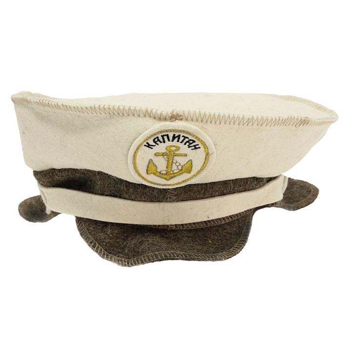 Шапка для бани и сауны Капитанская903701Шапка для бани и сауны Капитанская, оформленная оригинальной вышивкой - это незаменимый аксессуар для любителей попариться в русской бане и для тех, кто предпочитает сухой жар финской бани. Необычный дизайн изделия поможет сделать ваш отдых более приятным и разнообразным. При правильном уходе шапка прослужит долгое время - достаточно просушивать ее, подвешивая за петельку.
