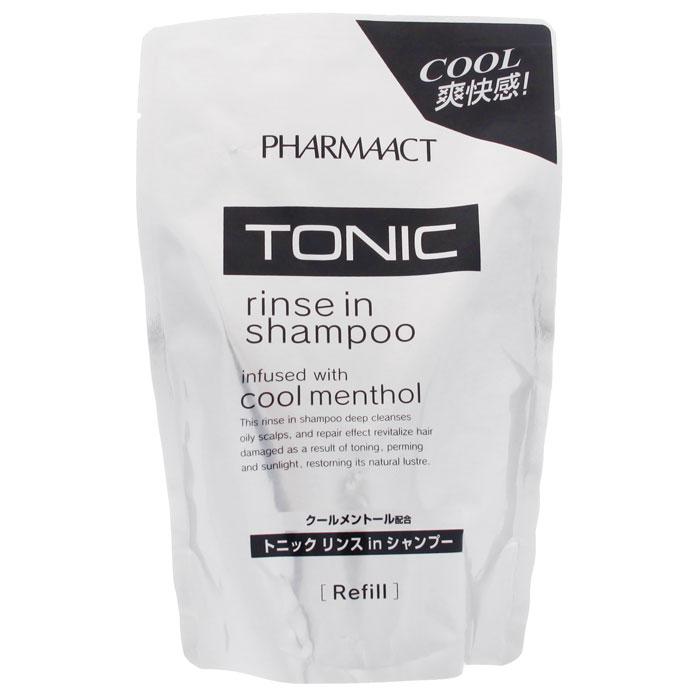 Шампунь для мужчин Pharmaact 2 в 1, тонизирующий, для жирных волос, сменная упаковка, 400 мл