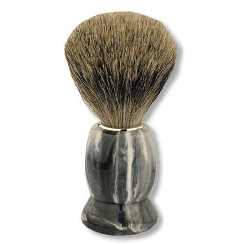 Помазок S.Quire. 6712а6712аПомазок для бритья S.Quire изготовлен из прочного пластика под мрамор с использованием натурального барсучьего ворса. Твердые щетинки помазка, массируя кожу, позволяют хорошо распределить пену по лицу и подготовить лицо к процедуре бритья.