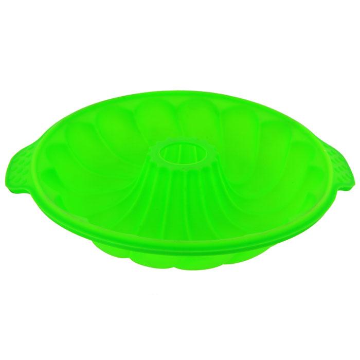 Форма для выпечки Marmiton Кекс, цвет: зеленый, диаметр 25 см16030Фигурная форма для выпечки Marmiton Кекс будет отличным выбором для всех любителей бисквитов и кексов. Благодаря тому, что форма изготовлена из силикона, готовый лед, выпечку или мармелад вынимать легко и просто. С такой формой вы всегда сможете порадовать своих близких оригинальной выпечкой. Материал устойчив к фруктовым кислотам, может быть использован в духовках, микроволновых печах и морозильных камерах (выдерживает температуру от 230°C до - 40°C). Можно мыть и сушить в посудомоечной машине. Диаметр формы по верхнему краю: 25 см. Общий размер формы (с учетом ручек): 29 см х 25 см х 5 см.