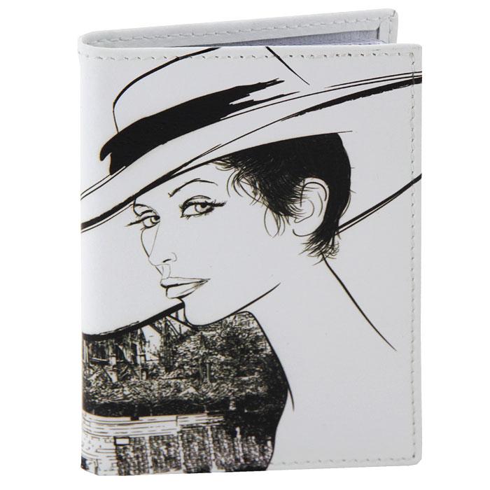 Визитница Perfecto Старый город. VZ-GL-0018VZ-GL-0018Компактная визитница Старый город - стильная вещь для хранения визиток. Обложка визитницы выполнена из натуральной кожи и оформлена изображением дамы в широкополой шляпе на фоне городского пейзажа. Визитница предназначена для хранения 18 визиток.