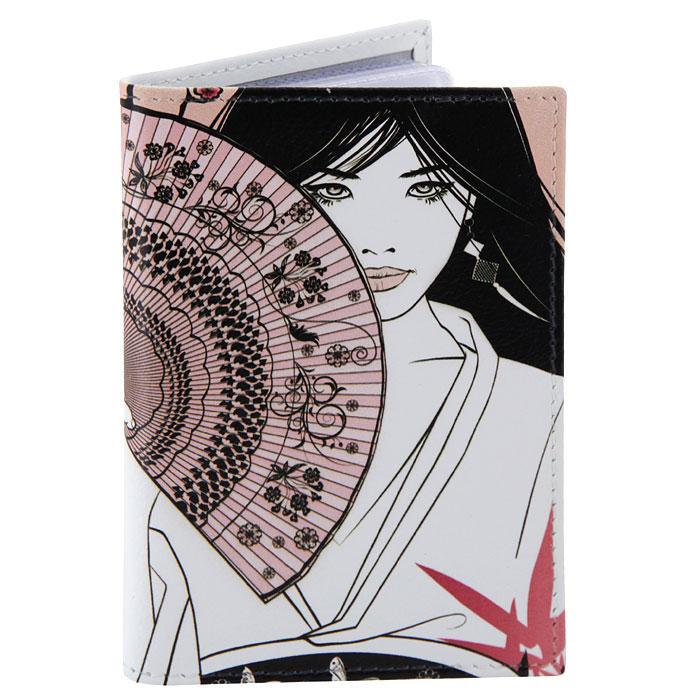 Визитница Perfecto Цветущая сакура. VZ-GL-0020VZ-GL-0020Компактная визитница Цветущая сакура - стильная вещь для хранения визиток. Обложка визитницы выполнена из натуральной кожи и оформлена изображением японки с веером на фоне цветущей сакуры. Визитница предназначена для хранения 18 визиток.