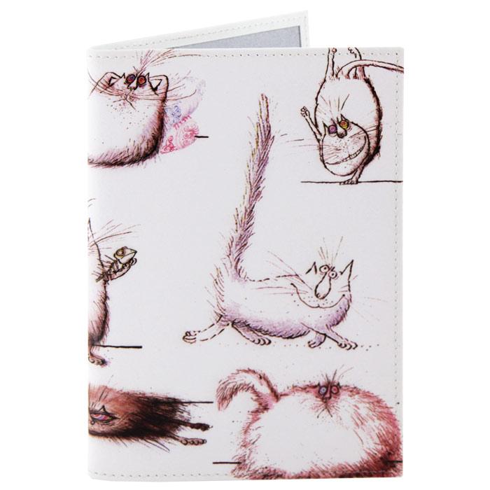 Обложка для паспорта Perfecto Кот, кот, кот!. PS-CT-0003PS-CT-0003Обложка для паспорта Кот, кот, кот!, выполненная из натуральной кожи, оформлена изображением забавных котов и кошек. Такая обложка не только поможет сохранить внешний вид ваших документов и защитит их от повреждений, но и станет стильным аксессуаром, идеально подходящим вашему образу. Яркая и оригинальная обложка подчеркнет вашу индивидуальность и изысканный вкус. Обложка для паспорта стильного дизайна может быть достойным и оригинальным подарком. Характеристики: Материал: натуральная кожа, пластик. Размер (в сложенном виде): 9,5 см x 13,5 см. Производитель: Россия. Артикул: PS-CT-0003.