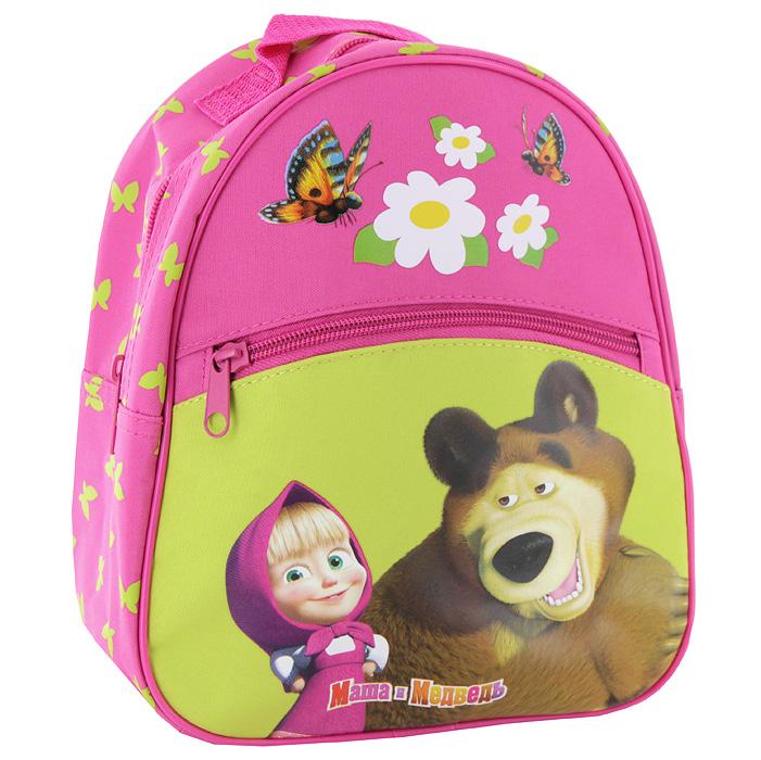 """Рюкзак  """"Маша и Медведь """" салатово-розовый малый 659 руб."""