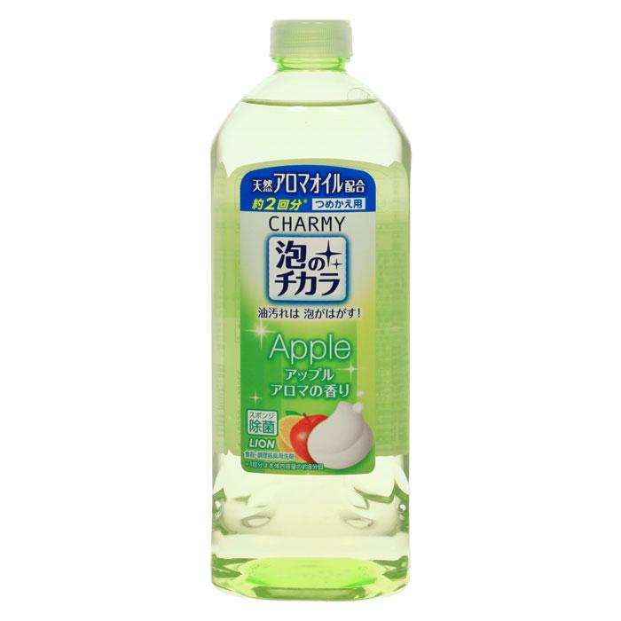 """Средство для мытья посуды Lion """"Charmy Awa no Chikara"""", с ароматом яблока, наполнитель, 400 мл YASH62776"""