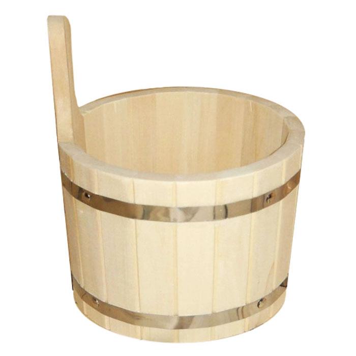 Ушат Шайка, 5 л03357Одним из тех приятных мелочей, без которых не обойтись при принятии банных процедур, является ушат для бани. Ушат Шайка круглой формы, выполненный из липы, прекрасно подойдет для замачивания веника или других банных процедур. Ушат, изготовленный из этой древесины, не портится от воды. Характеристики: Материал: дерево (липа), металл. Объем: 5 л. Диаметр: 22 см. Высота (без учета ручки): 18 см. Производитель: Россия. Артикул: 03357.