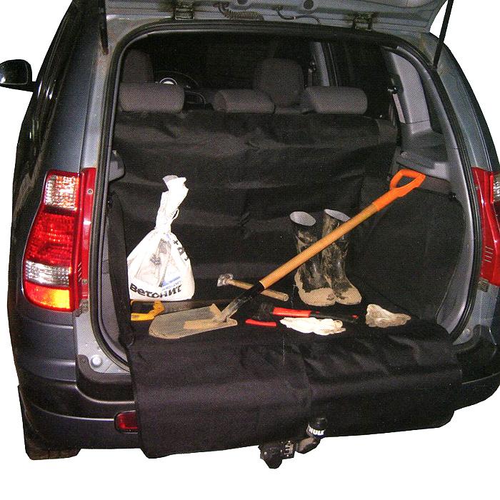 Защитная накидка в багажник Comfort Adress, цвет: черный, 75 см х 105 см х 75 смdaf 022Защитная накидка в багажник Comfort Adress, выполненная из прочного, водоотталкивающего материала, защищает дно, боковые стенки багажника, спинки задних сидений от грязи и повреждений. Также имеется дополнительная защита бампера от царапин во время загрузки. Система установки проста и удобна. Не мешает откидыванию задних сидений. Защитная накидка универсальна, подходит для любых типов и размеров багажников. Характеристики: Материал: непромокаемая ткань ПВХ 600D. Размер: 75 см х 105 см х 75 см. Цвет: черный. Производитель: Россия. Артикул: daf 022.