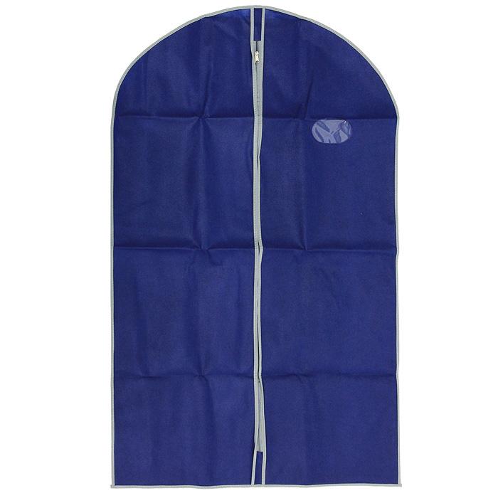 Футляр для хранения одежды Airy, цвет: синий, 60 см х 100 см75.04.02Удобный футляр для одежды Airy на молнии, выполненный из прочного нетканого материала, защитит ваши вещи от загрязнений, пыли, влаги и поможет надолго сохранить их безупречный вид во время хранения и транспортировки. Футляр снабжен небольшим прозрачным окошком, которое позволит вам видеть какая одежда находится внутри.