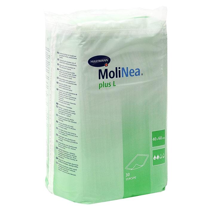 Одноразовые впитывающие пеленки Molinea (Молинеа) Plus L, 40 см х 60 см, 30 штPZN-1710867Одноразовые впитывающие пеленки MoliNea Plus L предназначены для дополнительной защиты постельного белья и других поверхностей, при проведении гигиенических и диагностических процедур. Верхний слой пеленок изготовлен из гипоаллергенного нетканого материала, внутренний - из распушенной целлюлозы, отбеленной без хлора, которая равномерно впитывает и распределяет жидкость. Внешний слой пеленок выполнен из водонепроницаемой нескользящей эластичной пленки, обеспечивающей высокую прочность на разрыв, а запатентованная структура ее поверхности (прессованные дорожки) способствует равномерному распределению жидкости. Края пеленок завернуты внутрь для дополнительной защиты от протекания и обеспечивают надежное охватывание целлюлозы. Характеристики: Размер пеленки: 40 см x 60 см. Материал: нетканый материал, целлюлоза, полиэтилен.