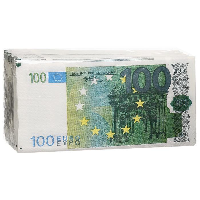 Салфетки Пачка 100 евро92422Качественные бумажные двухслойные салфетки Пачка 100 евро с изображением купюр в 100 евро - оригинальный сувенир для людей, ценящих чувство юмора.