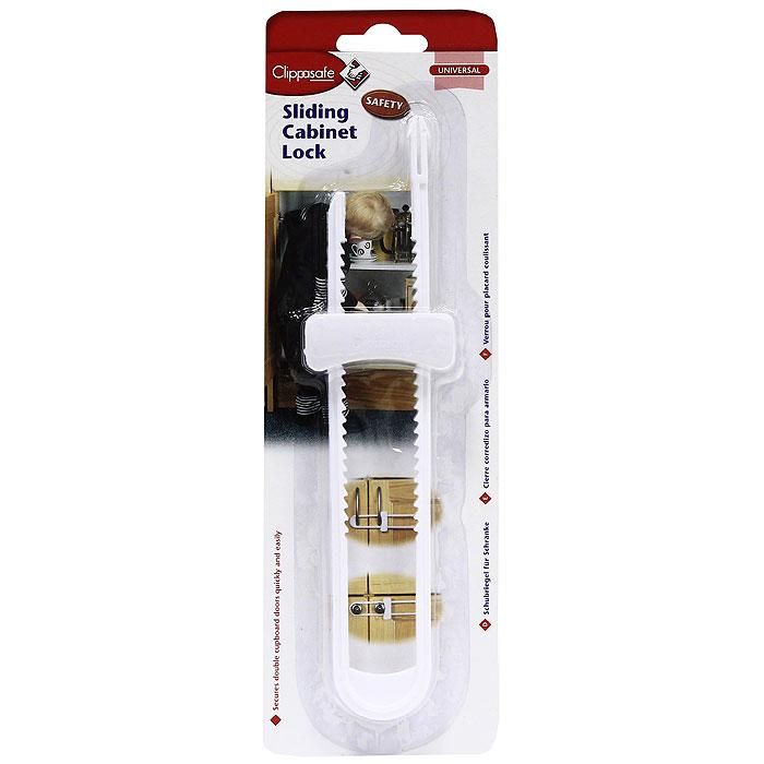 Защитный замок для створчатых дверей ClippasafeCL72Все родители хотели бы держать в шкафу подальше от детей стекло, фарфор, инструменты, лекарства, моющие средства и многое другое. Универсальный замок для створчатых дверей Clippasafe надежно блокирует их и защищает от проникновения детей внутрь, от прищемления пальчиков и от случайного падения на детей предметов из шкафа. Характеристики: Размер замка: 6 см x 23,5 см x 2 см. Размер упаковки: 9,5 см x 29,5 см x 2,5 см. Изготовитель: Китай.
