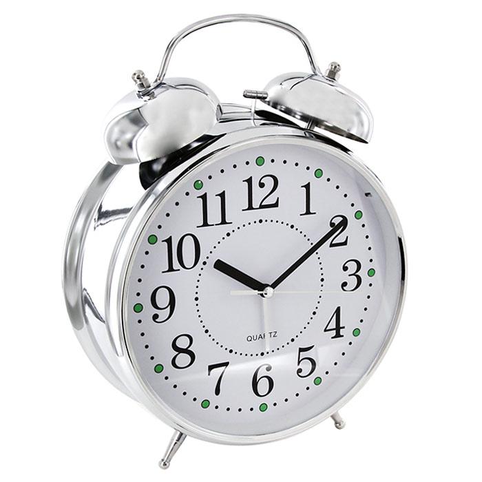 Часы-будильник Гигант, с подсветкой91917Каждое утро вы боитесь проспать? Будьте абсолютно уверены в том, что с таким будильником вам точно не удастся снова уснуть! Теперь вы сможете просыпаться утром под звуки стильного классического будильника Гигант. Большого размера будильник украсит вашу комнату и приведет в восхищение друзей. Будильник работает от батареек. На задней панели будильника расположены переключатель включения/выключения механизма и два колесика для настройки текущего времени и времени звонка будильника. Характеристики: Размер будильника: 22 см х 30,5 см х 8 см. Диаметр циферблата: 19,5 см. Материал: пластик, металл, стекло. Размер упаковки: 31 см х 24 см х 8,5 см. Производитель: Китай. Артикул: 91917. Необходимо докупить 3 батареи напряжением 1,5V типа (не входят в комплект).