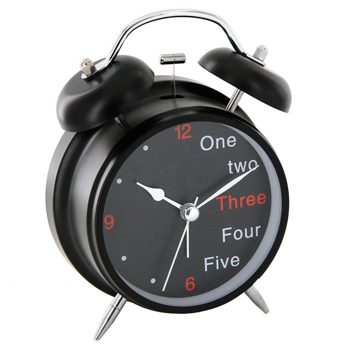 Часы-будильник Один, два, три91862Каждое утро вы боитесь проспать? Будьте абсолютно уверены в том, что с таким будильником вам точно не удастся снова уснуть! Теперь вы сможете просыпаться утром под звуки стильного классического будильника Один, два, три. Будильник черного цвета украсит вашу комнату и приведет в восхищение друзей. Половина цифр на циферблате заменена словами. Будильник работает от батареек. На задней панели будильника расположены переключатель включения/выключения механизма и два колесика для настройки текущего времени и времени звонка будильника. Характеристики: Размер будильника: 11,5 см х 16 см х 5,5 см. Диаметр циферблата: 8,5 см. Цвет: черный. Материал: пластик, металл, стекло. Размер упаковки: 11,5 см х 16,5 см х 6 см. Производитель: Китай. Артикул: 91862. Необходимо докупить 2 батареи напряжением 1,5V типа АА (не входят в комплект).