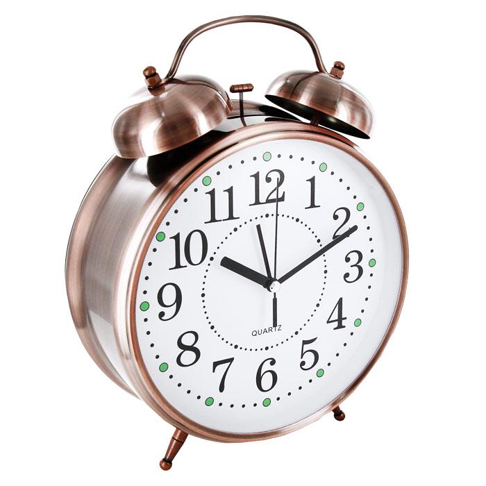 """Часы-будильник """"Гигант"""", с подсветкой, цвет: медный"""