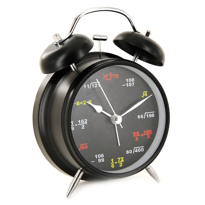 Часы-будильник Формулы, цвет: черный, с подсветкой91859Каждое утро вы боитесь проспать? Будьте абсолютно уверены в том, что с таким будильником вам точно не удастся снова уснуть! Теперь вы сможете просыпаться утром под звуки стильного классического будильника Формулы. Оригинальный будильник украсит вашу комнату и приведет в восхищение друзей. Будильник работает от батареек. На задней панели будильника расположены переключатель включения/выключения механизма и колесо для настройки текущего времени и времени звонка будильника. Будильник также оснащен подсветкой циферблата. Характеристики: Размер будильника: 11,5 см х 15,5 см х 5,5 см. Диаметр циферблата: 9 см. Материал: пластик, металл, стекло. Размер упаковки: 11,5 см х 17 см х 6 см. Производитель: Китай. Артикул: 91859. Необходимо докупить 2 батареи 1,5V типа AA (не входят в комплект).