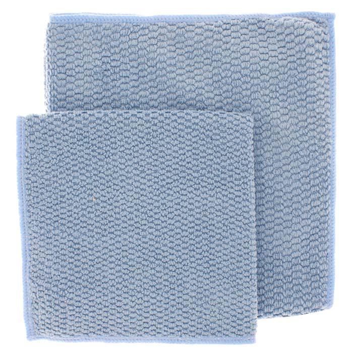 Салфетка для кухни Loks Super Cleaning, цвет: голубой, 2штL100503Универсальная кухонная салфетка Loks Super Cleaning широко используется для сухой и влажной чистки разных типов поверхностей. Обладая сильным электростатическим эффектом, салфетка притягивает в процессе уборки микрочастицы пыли, а также грибки и микроклещи. Хорошо впитывает грязь, не оставляет разводов и ворсинок. После уборки поверхность идеально отполирована и приобретает пылеотталкивающие свойства, что способствует высокому уровню клинической чистоты помещения. Обеспечивает высокую эффективность и скорость уборки! В комплект входит 2 салфетки.