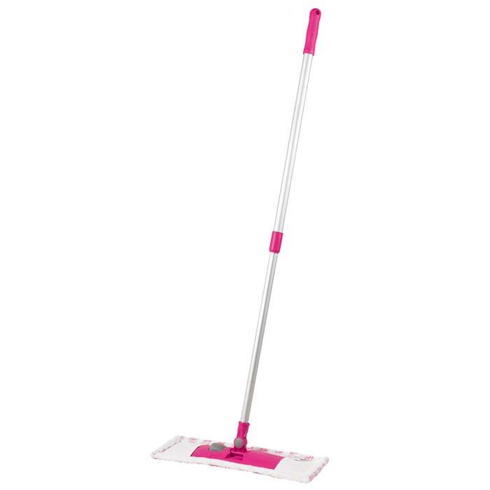 Швабра Loks Super Cleaning со складывающейся подошвой, цвет: белый, розовыйL10-4038-11Швабра Loks Super Cleaning с насадкой из микрофибры широко используется для сухой и влажной уборки любых напольных поверхностей. Благодаря уникальным свойствам микрофибры сухая насадка легко удаляет пыль и в три раза лучше впитывает влагу, чем обычный хлопок. Подошва швабры Loks Super Cleaning складывается, что позволяет легко снять насадку. Телескопическая алюминиевая ручка, с радиусом поворота 360 градусов, позволяет регулировать длину швабры. Сменная насадка из микрофибры подходит для машинной стирки при температуре 40°С. Швабра Loks Super Cleaning со складывающейся подошвой - лучший помощник в доме!