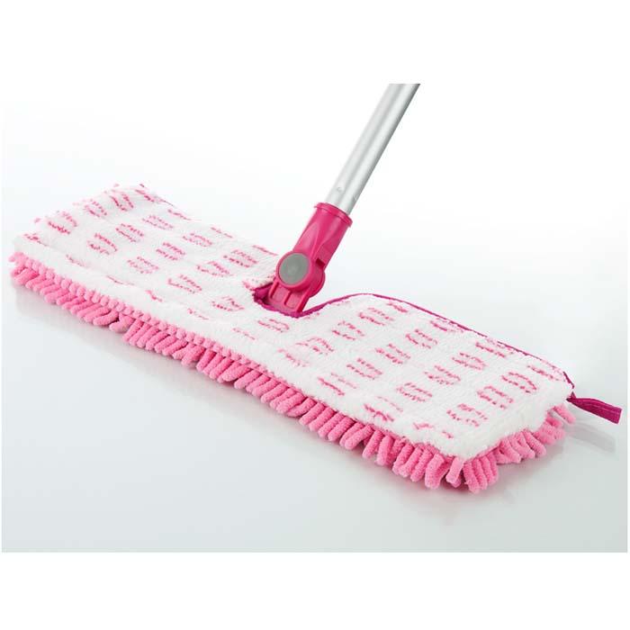 """Швабра """"Loks Super Cleaning"""" на плоской подошве, цвет: белый, розовый. L10-4309-71"""