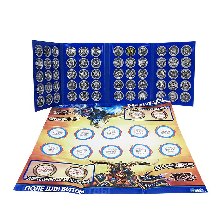 Коллекционный альбом для медальонов Slingers (Слингерс)SlingBookКоллекционный альбом для медальонов Slingers (Слингерс) незаменимый аксессуар для хранения Медальонов. В комплект с альбомом входит игровое поле для Битвы и Редкий Медальон. Slingers (Слингерс) - это новая увлекательная игра, это грандиозный прорыв за границы реальности! Абсолютно уникальная игра, в которой игрок получает возможность играть с крутыми слингерами, накручивая их на пальцы, коллекционировать медальоны с героями, участвовать в сражениях и турнирах, а также многое другое. Эта игра вобрала в себя самое лучшее из игрушек всего мира, и явила себя как нечто совершенно новое и оригинальное. Аналогов Слингерсам на сегодня просто не существует. Игровой процесс Slingers построен таким образом, что играя в него развивается масса положительных качеств: собирательность, аккуратность, бережливость, дальнозоркость, пространственное мышление, координация движений. Игра объединяет и сплачивает играющих. В игру можно играть как одному, так и в команде.