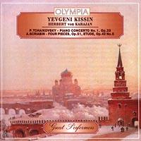 Yevgeni Kissin. Herbert von Karajan. P.Tchaikovsky - piano concerto No.1, Op.23. A.Scriabin - four pieces, Op.51, Etude, Op.42 No.5