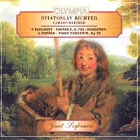 Sviatoslav Richter. Carlos Kleiber. F.Schubert - fantasie, D.760 `Wanderer`. A.Dvorak - piano concerto, Op.33 Audio CD