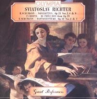 Sviatoslav Richter. R.Schumann - noveletten, Op.21 Nos.2, 4 and 8. F.Chopin - 13 preludes from Op.28. R.Schumann - fantasiestucke,