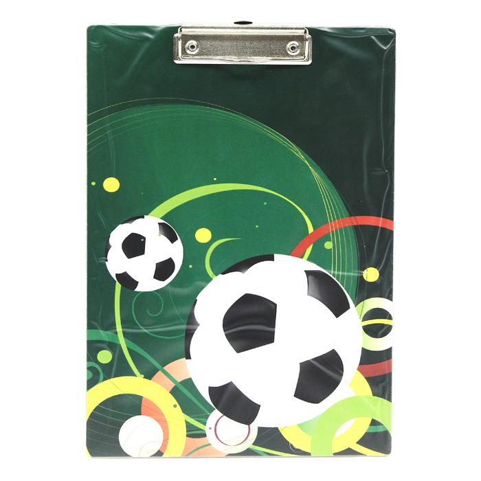 Клип-борд Футбол, А40315-0011-95Клип-борд Футбол не только будет незаменим при работе с документацией в нестандартных условиях, но и станет стильным деловым аксессуаром. Клип-борд изготовлен из жесткого картона, обтянутого высококачественным пластиком и оформлен изображением футбольных мячей и узоров. Металлический зажим надежно фиксирует листы, предотвращая сползание бумаги. Предусмотрено выдвигающееся крепление, с помощью которого планшет можно повесить на стену. Одновременно клип-борд может служить подручным ковриком для компьютерной мыши.