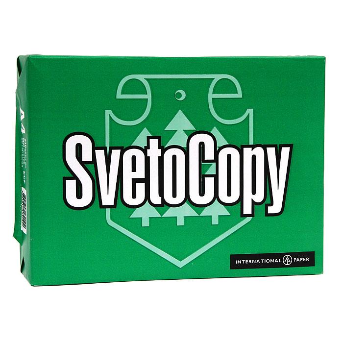 Бумага офисная Svetocopy, 500 листов, А4. 000877000877 (FВТ-SvetoCopy)Офисная бумага Svetocopy - идеальная экономичная бумага для ежедневного делопроизводства, которая подходит для любого принтера и копировального аппарата, независимо от его функционального назначения, набора функций и периода операционной деятельности. Оптимальные показатели белизны, структуры и однородности листа гарантируют высокое качество печати. Характеристики: Плотность: 80 г/м2. Размер листа: 29,7 см х 21 см. Количество: 500 листов. Яркость: 95 %. Цвет: белый.