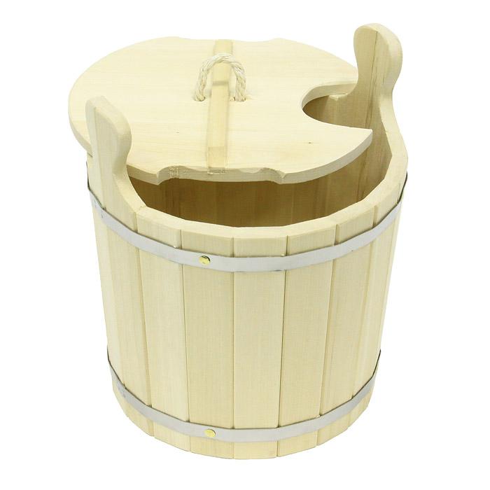 Запарник Банные штучки с крышкой, 8 л03605Запарник Банные штучки, изготовленный из липы, доставит вам настоящее удовольствие от банной процедуры. При запаривании веник обретает свою природную силу и сохраняет полезные свойства. Корпус запарника состоит из металлических обручей стянутых клепками. Для более удобного использования запарник имеет по бокам две небольшие ручки. Также запарник оснащен крышкой с веревочной ручкой и отверстием для ковша. Интересная штука - баня. Место, где одинаково хорошо и в компании, и в одиночестве. Перекресток, казалось бы, разных направлений - общение и здоровье. Приятное и полезное. И всегда в позитиве. Характеристики: Материал: дерево (липа), металл, текстиль. Высота запарника (без учета крышки и ручек): 25,5 см. Диаметр запарника по верхнему краю: 29 см. Объем: 8 л. Размер упаковки: 30 см х 36 см х 33 см. Производитель: Россия. Артикул: 03605.