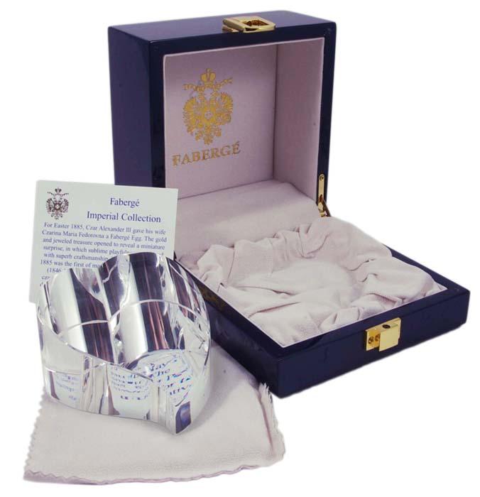 Пресс-папье Хрустальное сердце. Хрусталь, гравировка, House of Faberge, 1990-е гг