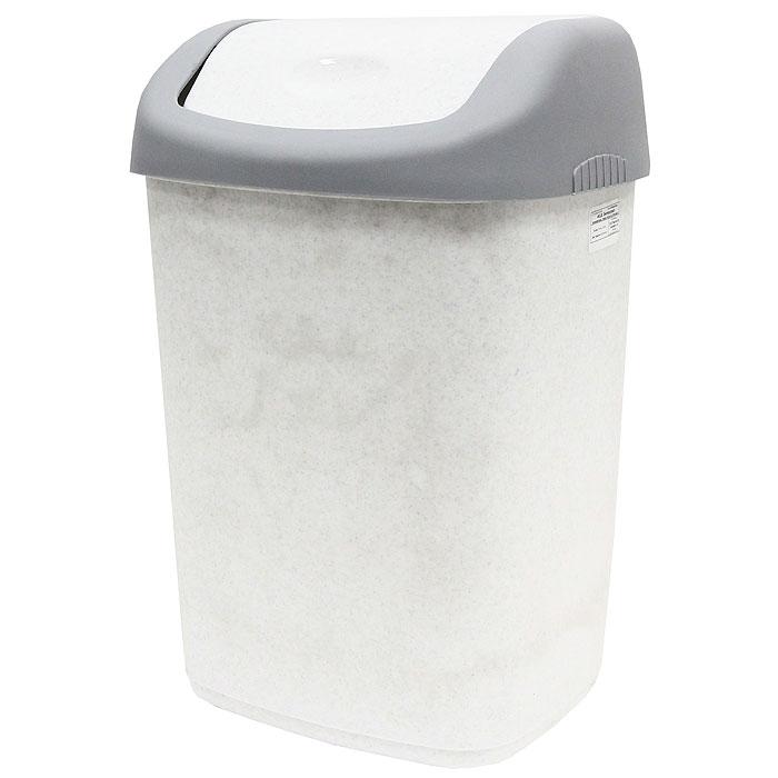Контейнер для мусора, цвет: серый, белый, 14 л327Контейнер для мусора с плавающей крышкой удобен в использовании. Контейнер выполнен из пластика серого и белого цветов. Характеристики: Материал: пластик. Объем: 14 л. Цвет: серый, белый. Размер контейнера: 33,5 см х 26,5 см х 21,5 см. Размер крышки: 22,5 см х 27 см х 9 см. Производитель: Россия. Артикул: 327.