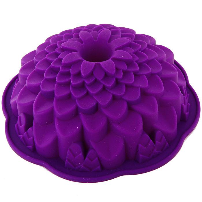 Форма для выпечки Marmiton Хризантема, цвет: фиолетовый, диаметр 21,5 см16045Фигурная форма для выпечки Marmiton Хризантема будет отличным выбором для всех любителей бисквитов и кексов. Благодаря тому, что форма изготовлена из силикона, готовую выпечку или мармелад вынимать легко и просто. С такой формой вы всегда сможете порадовать своих близких оригинальной выпечкой. Материал устойчив к фруктовым кислотам, может быть использован в духовках, микроволновых печах и морозильных камерах (выдерживает температуру от +240°C до -50°C). Можно мыть и сушить в посудомоечной машине. Диаметр формы: 21,5 см. Высота формы: 7 см.