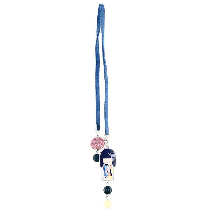 Закладка для книг Kimmidoll Цукико (Уверенность). KF0519KF0519Изящная закладка Цукико - великолепный подарок для тех, кто не мыслит свою жизнь без книг. Закладка представляет собой тонкий кожаный шнурок, который оформлен металлической подвеской в виде японской куколки в белом кимоно, и декорирован бусинами. Характеристики: Длина закладки: 40,5 см. Материал: металл, искусственная кожа, пластик. Размер упаковки: 6 см x 15,5 см x 2 см. Производитель: Китай. Артикул: KF0519.
