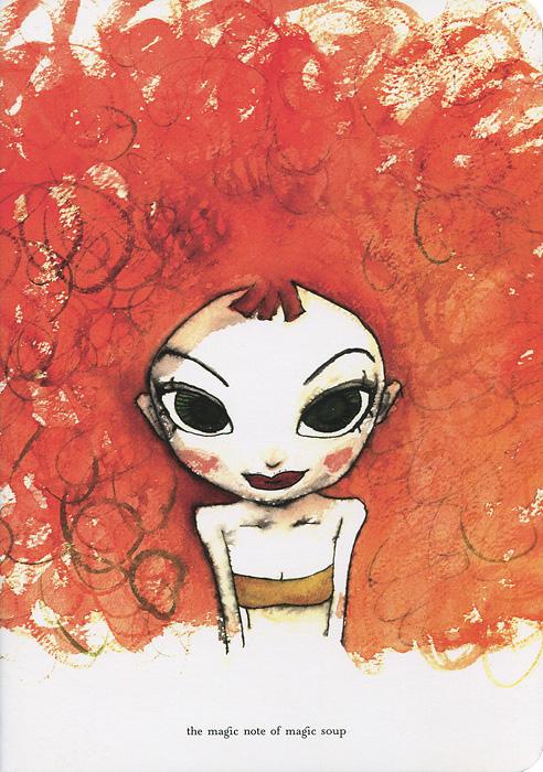 Тетрадь для записей Роковая женщина Шаа, 24 листа, формат А5N03-008Тетрадь для записей Роковая женщина Шаа отлично подойдет для различных записей, а яркий акварельный рисунок на обложке из твердого картона вдохновит на воплощение творческих фантазий. Листы тетради линованные и оформлены забавным рисунком на полях. Характеристики: Материал: бумага, картон. Размер тетради: 21 см x 14,5 см. Производитель: Корея. N03-008.