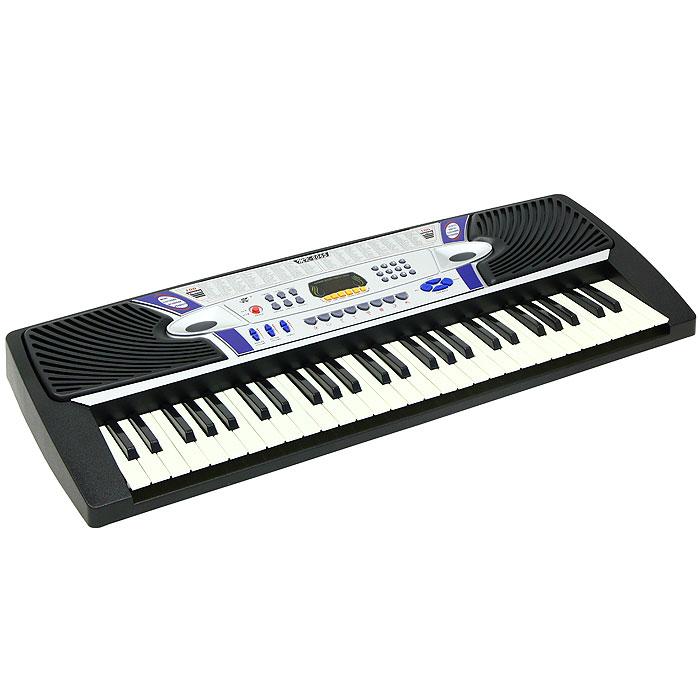 Синтезатор DoReMi, 54 клавиши, с микрофоном. D-00003D-00003Яркий синтезатор DoReMi привлечет внимание малыша и доставит ему много удовольствия от часов, посвященных игре с ним. Синтезатор имеет 54 музыкальных клавиши и множество кнопок, позволяющих добавлять различные звуковые эффекты при составлении мелодий, менять темп и ритм музыки: 100 тембров, 100 ритмов, 32 уровня темпа, 16 уровней управления громкостью. На синтезаторе можно составить собственные мелодии, записать их и прослушать. В комплект с синтезатором входит микрофон. С помощью этого синтезатора ребенок сможет развить свои музыкальные способности и порадовать друзей и близких великолепным концертом. Порадуйте его таким замечательным подарком! Синтезатор может работать от сетевого адаптера или от 6 батареек типа АА.