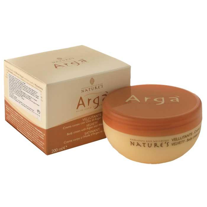 Крем для тела Natures Arga, бархатный, 200 мл60150601Бархатный крем для тела Natures Arga идеальное средство для сухой и обезвоженной кожи, активно восстанавливает природный уровень влаги. Обладает антиоксидантными свойствами. Питает, помогает бороться с преждевременным старением, потерей упругости и эластичности кожи. Тонизирует и уменьшает покраснения. Мягкая легкая текстура крема способствует быстрому впитыванию, не оставляя жирных следов. Кожа становится более упругой, шелковистой и сияющей. Способ применения: наносите легкими массажными движениями на кожу тела до полного впитывания.