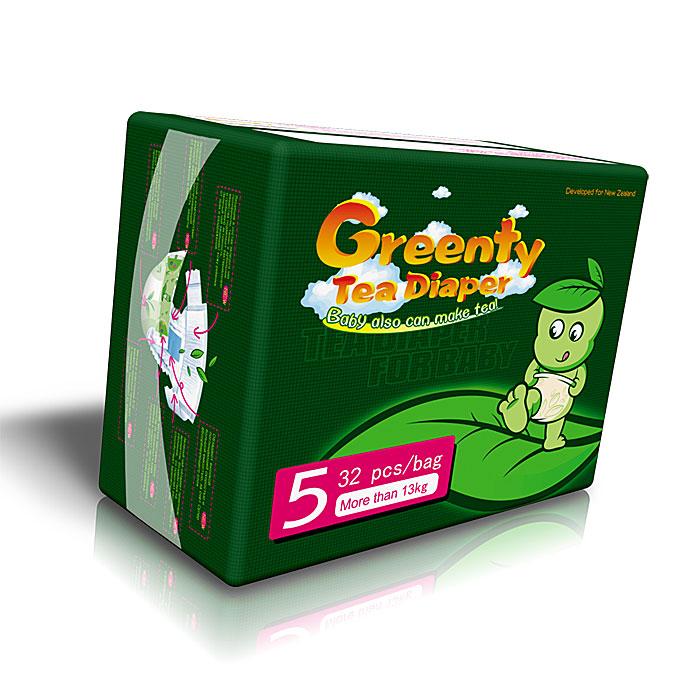 Greenty Подгузники, от 13 кг, 32 штGRE-5mПодгузники Greenty (Гринти) Tea Diaper изготовлены из натуральных природных материалов: современная лаборатория в Новой Зеландии выбрала из нескольких сортов зеленого чая обладающий самыми лучшими антисептическими свойствами и разработала уникальный экологический слой подгузников, обеспечивающий высокую защиту от раздражений и сыпи. Входящие в состав зеленого чая компоненты являются природными антисептиками, подавляют бактериальную и грибковую активность. Дышащий термослой подгузников Greenty быстро выводит влажный и теплый воздух от кожи ребенка, принося сухость и ощущение комфорта. Подгузники обладают высокой поглощающей способностью и большой емкостью за счет суперабсорбирующего слоя. Супермягкие застежки-липучки велкро никогда не прилипнут к коже ребенка и помогут легко отрегулировать подгузник по талии ребенка, подгоняя подгузник так, чтобы он удобно и в то же время надежно сидел на ребенке. Отличная воздухопроницаемость подгузников Greenty позволяет коже...