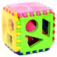Развивающая игра Логический куб01307Развивающая игра Логический куб состоит из различных деталей и фигур, отличающихся друг от друга цветом, формой, размером, толщиной. На гранях большлго куба расположены отверстия, в которые необходимо вставлять соответствующие п оформе фигуры и детали. Логические игры вырабатывают умение узнавать и различать форму или изображение предмета, его цвет, развивают творческое и пространственное воображение, абстрактное мышление, а также учат классифицировать, обобщать, сравнивать. Характеристики: Размер куба: 12 см х 12 см х 12 см.