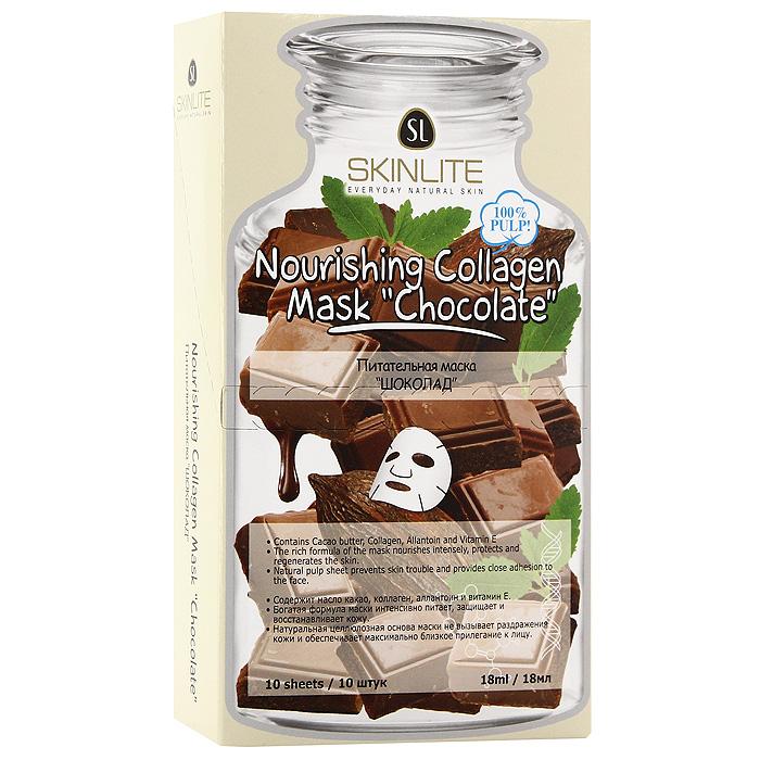 Маска Skinlite Шоколад, питательная, 10 штSL-716Питательная маска Skinlite Шоколад - активно защищает клетки от воздействия свободных радикалов, замедляя процессы старения, возвращает эластичность и тонус, уменьшает признаки увядания кожи, насыщает питательными веществами. Шоколад содержит антиоксиданты, которые защищают клетки от негативного действия свободных радикалов, а так же микроэлементы и витамины В1, В2, РР и провитамин А. Шоколад интенсивно питает кожу, делает ее бархатистой и нежной, тонизирует и смягчает. При регулярном применении маски кожа насыщается энергией, сияет, выглядит здоровой и молодой! Способ применения : полностью очистите лицо, аккуратно приложите маску к лицу, убедившись, что она плотно прилегает к коже. Оставьте на 15-20 минут. Снимите, медленно потянув за края. Характеристики: Количество масок: 10 шт. Объем одной маски: 18 мл. Размер упаковки: 18 см х 10,5 см х 4 см. Производитель: Южная Корея. Артикул: ...