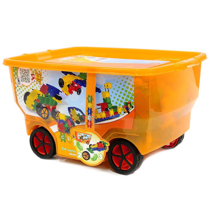 Clics Конструктор цвет оранжевыйCB409Конструктор Clics (Кликс) - отличный набор для всестороннего развития вашего ребенка. Этот конструктор поможет развить логическое мышление, мелкую моторику рук, воображение, фантазию. Особенность конструктора заключается в том, что он позволяет ребенку строить бесконечные забавные модели, руководствуясь своей фантазией или по прилагаемой инструкции (браслет, корону, сундучок, сумочку, машинку, машинку с прицепом, замок). Детали конструктора выполнены в ярких цветах. Набор удобен в хранении, все детали укомплектованы в легкий пластмассовый кейс на колесиках. Конструктор содержит: 340 элементов, 60 аксессуаров и иллюстрированная инструкция по сборке. Характеристики: Материал: пластик, резина. Размер элемента: 3 см х 5 см. Размер упаковки: 40 см х 21 см х 28 см.