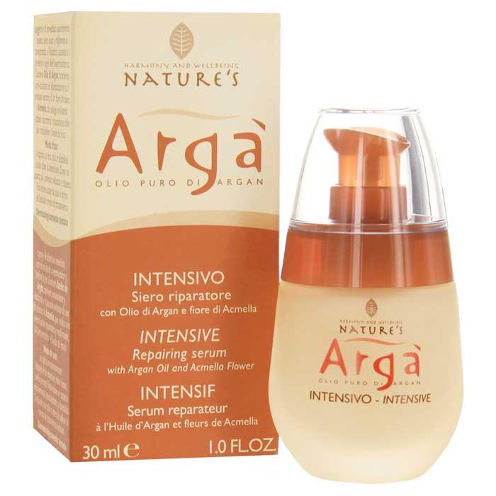 Сыворотка Natures Arga, интенсивная, восстанавливающая, 30 мл60150501Интенсивная восстанавливающая сыворотка Natures Arga эффективное омолаживающие средство для всех типов кожи. Предотвращает первые признаки старения, активно борется с мимическими морщинами, питает, увлажняет, тонизирует, смягчает, успокаивает кожу. Снимает мышечное напряжение. Оказывает антиоксидантное действие, удаляет продукты метаболизма, интенсивно восстанавливает структуру кожи, придает упругость и эластичность, способствует восстановлению овала лица. Быстро впитывается, не оставляя жирного блеска. Мужчины могут использовать сыворотку как идеальное средство после бритья. Способ применения: наносить утром и вечером нежными массажными движениями на предварительно очищенную кожу лица, шеи и области декольте. Можно использовать как самостоятельное средство или как основу под обычное средство ухода за лицом. Характеристики: Объем: 30 мл. Производитель: Италия. Артикул: 60150501. Товар сертифицирован....