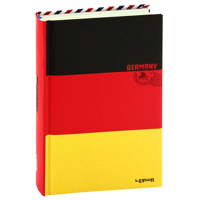 Блокнот Флаг Германии0101098Стильный блокнот Флаг Германии в твердом переплете - яркий аксессуар человека, ценящего практичные и качественные вещи. Обложка оформлена изображением немецкого флага и почтового штампа. Внутренний блок содержит разноцветные нелинованные листы и листы в линейку для заметок. Страницы оформлены надписями и фотографиями. Для удобства поиска нужной страницы в блокноте предусмотрено ляссе. Блокнот Флаг Германии - прекрасный подарок и незаменимый аксессуар современного человека. Характеристики: Материал: картон, бумага. Размер блокнота: 11 см х 18,5 см. Изготовитель: Китай. Артикул: 101098.