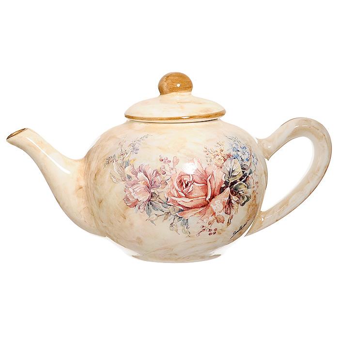 Чайник заварочный Элианто, 800 млLCS958TP-EL-ALЗаварочный чайник Элианто поможет вам в приготовлении вкусного и ароматного чая, а также станет украшением вашей кухни. Он изготовлен из высококачественной керамики. Чайник имеет изящную форму и оформлен красочным рисунком. Нежный цветочный рисунок придает чайнику особый шарм, который понравится каждому. Такой заварочный чайник станет приятным и практичным подарком на любой праздник. Диаметр чайника по верхнему краю (без учета носика и ручки): 11 см. Высота чайника (без учета крышки): 9 см. Высота чайника (с учетом крышки): 12 см.