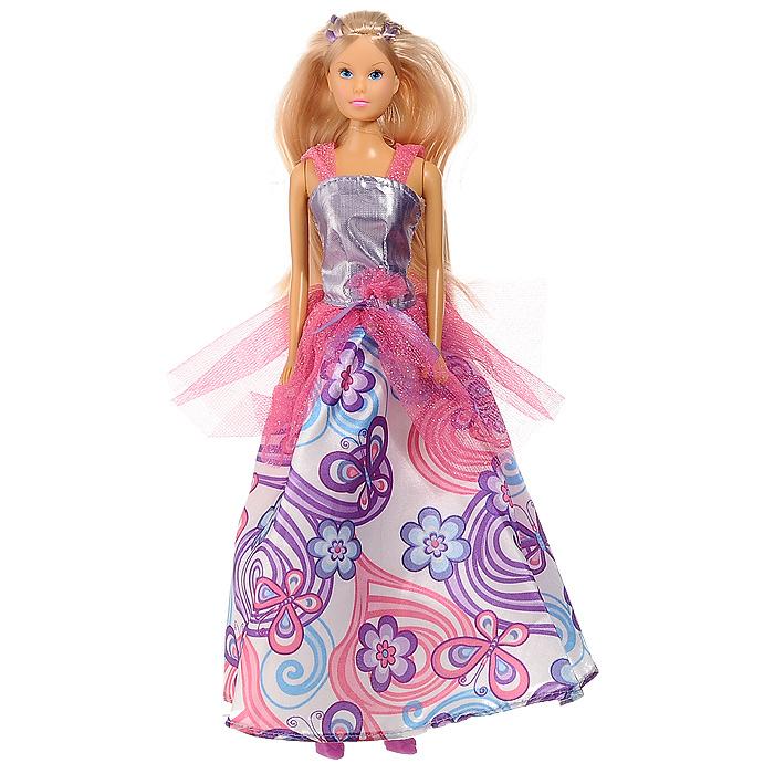 Кукла Steffi Принцесса бабочек, цвет: сиреневый. розовый5734903Кукла Steffi Принцесса бабочек одета в великолепное платье, юбка которого украшена изображением разноцветных бабочек и цветов. Шикарные длинные волосы принцессы распущены. В комплект с куклой входят четыре небольшие заколки-бабочки и две резиночки для волос, украшенные бабочками. Порадуйте свою малышку такой замечательной игрушкой! Куклы, пожалуй, древнейшие и самые популярные игрушки в мире. Девочки обожают играть с ними, отправляясь в сказочную страну грез. Сегодня принцессы, завтра - королевы дискотек в модной дизайнерской одежде - в одну секунду можно превратиться в того, кого пожелаешь! Steffi Love - это настоящая любимица девочек. Она является отражением большого мира моды и помогает девочкам в их познании жизни, ведь именно игра помогает будущим девушкам исследовать нюансы взрослой жизни. Множество модных аксессуаров, фантастические цвета, домики, о которых можно только мечтать, кабриолеты и многое другое уносят юных прелестниц в зачарованный мир...