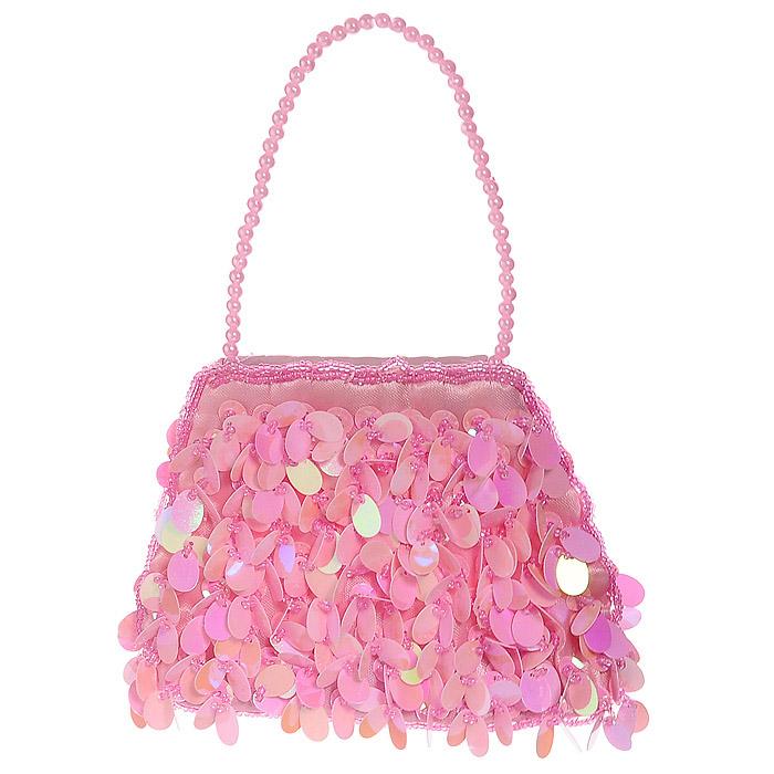 """Стильная детская сумочка  """"Принцесса """", оформленная розовыми пайетками и..."""
